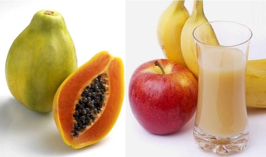 licuado de papaya y manzana para bajar de peso