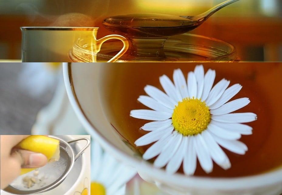 manzanilla con limon para adelgazar