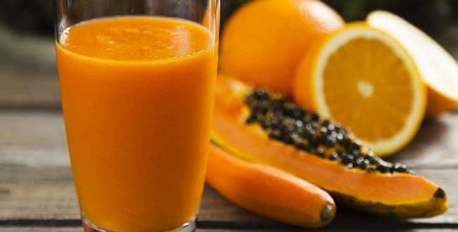 Jugo de Papaya y Naranja