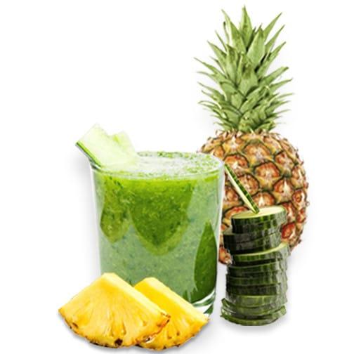 Jugo De Pepino Y Piña Dos Ingredientes Antioxidantes
