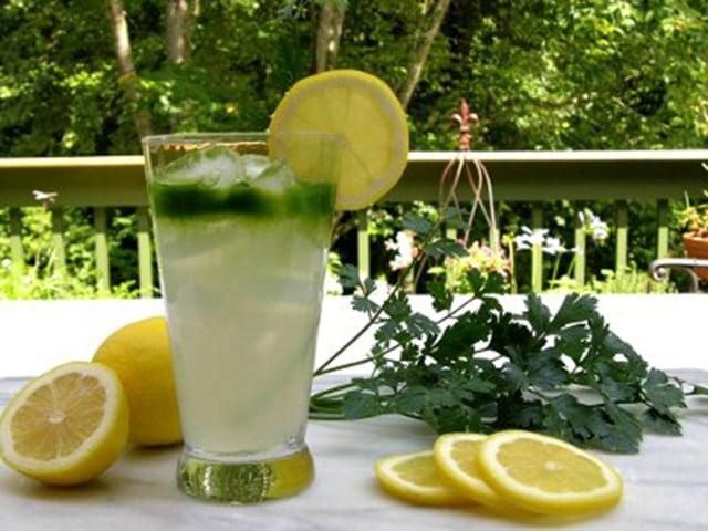 perejil vinagre de manzana limon