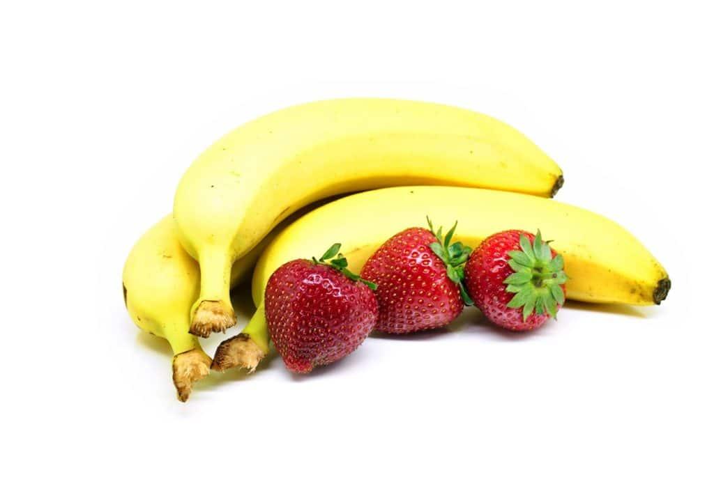 Batido de plátano y fresa